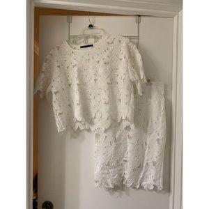 Dresses & Skirts - White Floral Crochet Skirt Set